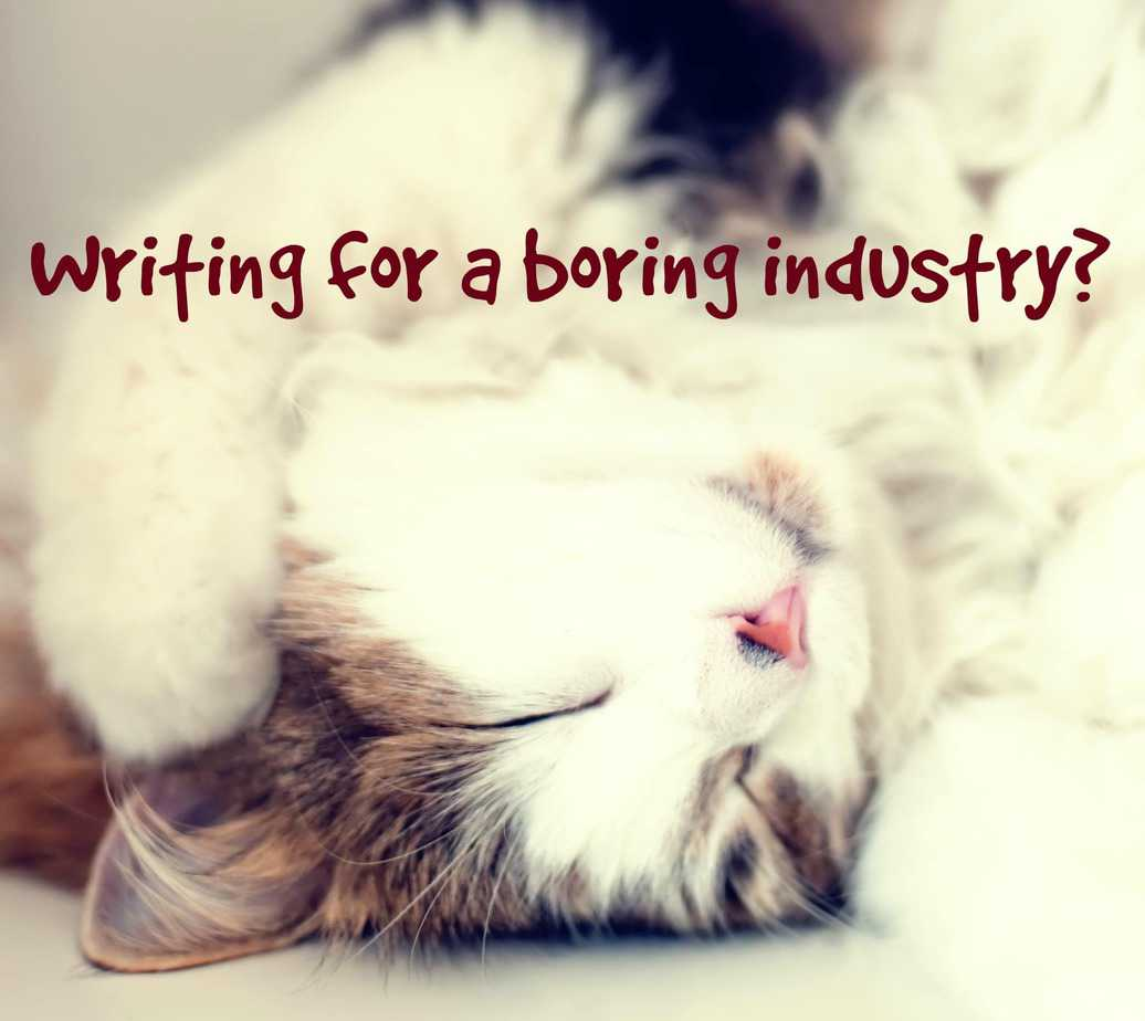 Everything you've heard about writing content for boring industries is wrong