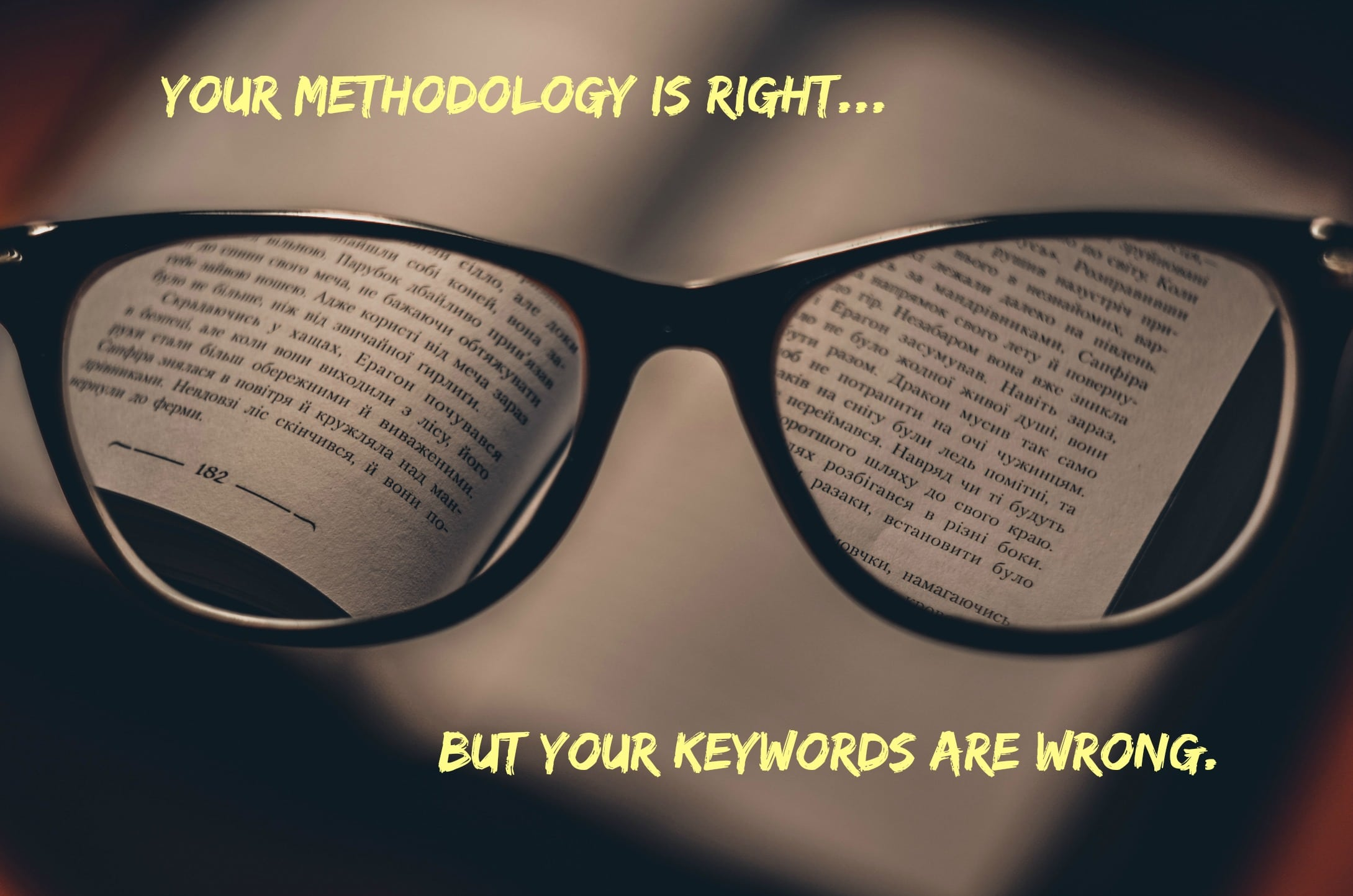 What content marketing keyword research doesn't tell you